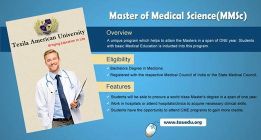 Master of Medical Science(MMSc) at Texila American University