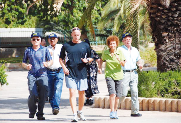 stressed Walk outdoor to boost spirit